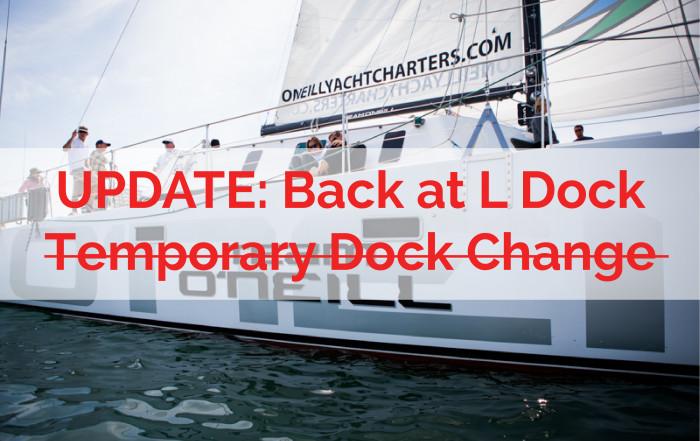 Team O'Neill catamaran back at L Dock